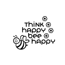 2020 15 5 11 7cm Think Happy Bee Happy Fun Window Bumper Sticker Vinyl Decal Vinyl Hobby Car Bumper Sticker Car Accessories From Xymy777 4 23 Dhgate Com