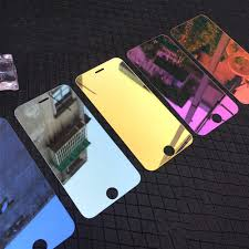 Luxury Colorful Mirror Screen Protector Film for iPhone 6 6S 7 Plus XS Max XR 9H Tempered Glass For iPhone 7 6 6S 5 5S 5C SE|Phone Screen Protectors| - AliExpress