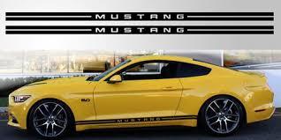 Mustang Double Stripe Vinyl Decal Stripe Garage