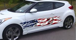 American Flag Flames Vinyl Auto Graphic Decal Xtreme Digital Graphix