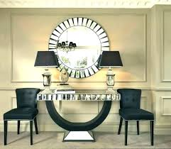console table with mirror set