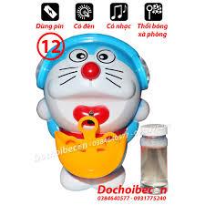 Doremon thổi bóng xà phòng 12 - Dùng pin, có đèn, nhạc, thổi bóng ...