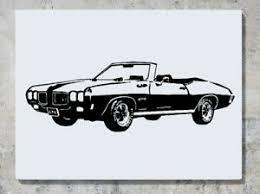 Gto Pontiac Car Automobile G T O Wall Art Decal Sticker Picture Ebay