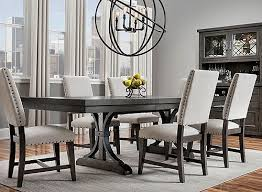 When It Comes To The Halloway 7 Piece Dining Set Strong Lines And Eye Catching Detail Create Dining Sets Modern Dining Room Furniture Dining Room Table Decor
