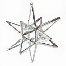 beveled gl moravian star ornament