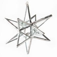 beveled gl moravian star ornament