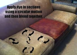 i will be dyeing our old leather sofa