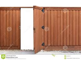 Opening Gate In A Wooden Fence Stock Photo Image Of Carpentry Board 20249218