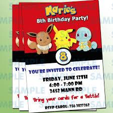 Invitacion De Pokemon Invitacion De Pikachu Pokemon Pikachu