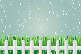 Grass Fence On Day With Torrential Rain Download Free Vectors Clipart Graphics Vector Art