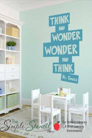 Think And Wonder Dr Seuss Wall Sticker Decal In 2020 Wall Vinyl Decor Kids Wall Decals Wall Stencils Printables