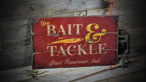 custom bait tackle lake house sign