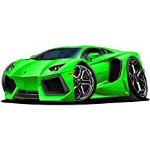18 Lamborghini Aventador Green Wall Decal Cartoon Car 3d Sticker Mural Kids Room Sports Den Man Cave Boys Buy Products Online With Ubuy Taiwan In Affordable Prices B072p11yyf