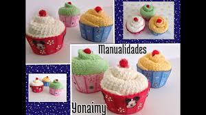 Cupcakes O Panquecitos Hechos Con Toallitas Faciales Y Foamy Cupcakes Made With Washcloths Youtube