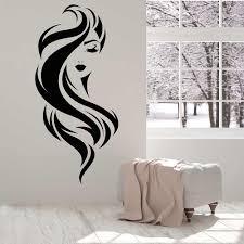 Beautiful Face Girl Beauty Makeup Hair Salon Vinyl Wall Decal Home Decor Art Mural Removable Wall Stickers Wall Stickers Aliexpress