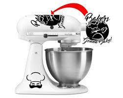Bakers Gonna Bake Vinyl Kitchenaid Decal Set Azvinylworks