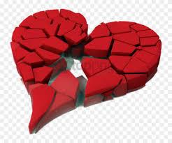 fragmented broken heart png images