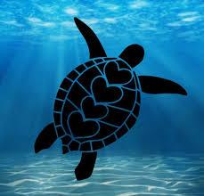 Sea Turtle Sticker Vsco Tortoise Hearts Water Bottle Etsy