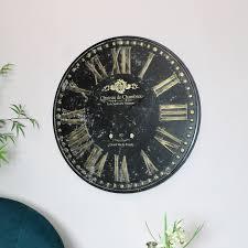 large rustic wall clock melody maison