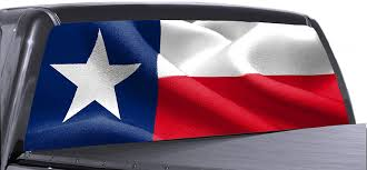 Amazon Com Tower Decals 66 X 25 Universal Wavy Texas Flag Truck Rear Window Perforated Vinyl Graphic Automotive