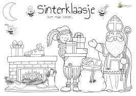 Kleurplaat Sinterklaas 2 1 Jufbijtje Nl