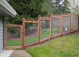 Residential Wood And Wire Fencing Fencing Residential Wire Wood In 2020 Backyard Fences Fence Design Building A Fence