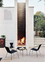 garden outdoor fireplace firepit