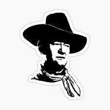 John Wayne Stickers Redbubble