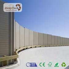China Mecofence Aluminum Post Wood Plastic Composite Fence Panels Uv Resistant Outdoor House Fence China Fencing For Villa Garden Fence