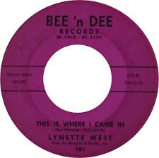45cat - Lynette West - If She Doesn't Want You / This Is Where I Came In -  Bee 'n Dee - USA - 101