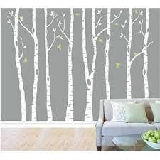 Tayyakoushi White Birch Tree Wall Decal Nursery Classical Tree Wall Stickers Tree Wall Decals For Kids Room Living Room Wall Decor Set Of 8 Wall Mural Walmart Com Walmart Com