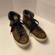 converse shoes mens brown leather