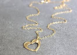 heart pendant necklace simple gold