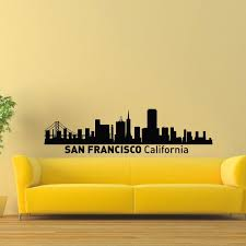 Shop San Francisco Ny Skyline City Silhouette Vinyl Wall Art Decal Sticker Overstock 10507868