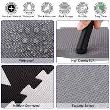 Topper Black Gray Color Kids Baby Play Mat Non Toxic Extra Thick Foam Large With Gate Fence Crawling Play Mat