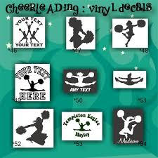 Cheerleading Vinyl Decals 46 54 Car Stickers Cheerleader Sticker Car Decal Custom Vinyl Decals Personalized Stickers Cheer Cheer Stunts Cheer Mom Youth Cheer