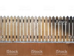 Wooden Fence Orange Wall And White Background Stock Photo Download Image Now Istock