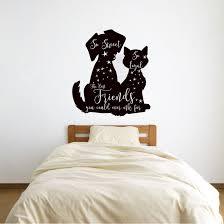 Winston Porter Morris Best Friends Dog And Cat Silhouette Vinyl Words Wall Decal Wayfair