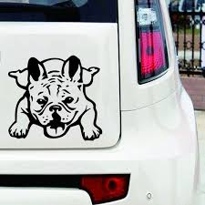 Lying French Bulldog Dog Frenchie Die Cut Sticker Vinyl Window Decal Wish