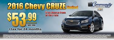 munity chevrolet new vehicle specials