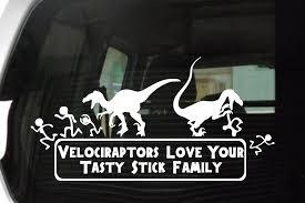 Velociraptors Love Your Tasty Stick Family Decal Velocigraphics