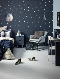 How To Design A Space Themed Kid S Room With Cool Glow In The Dark Paint Space Kids Room Space Themed Bedroom Outer Space Bedroom
