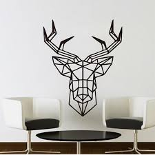 Wall Sticker Deer Design Geometric Deer Head Geometry Animal Series Decals 3d Vinyl Wall Art Custom Home Decor Ic885410 Large Wall Decals For Kids Large Wall Sticker From Totwo3 10 81 Dhgate Com