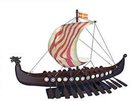 Viking Drakkar 24 - Longship Model Boat Vessel - Nordic Viking Vessel -  Wooden Model Boat - Brand New - Sold
