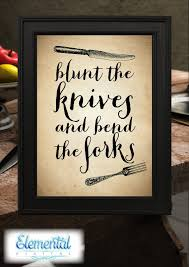 instant printable blunt the knives poster the hobbit