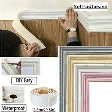 3d Self Adhesive Decorative Wall Molding Skirting Line Mural Border Sticker Wish