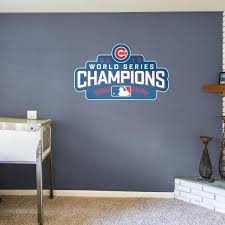 Chicago Cubs Fathead Wall Decals More Shop Mlb Fathead Logo Wall Chicago Cubs Removable Wall Decals