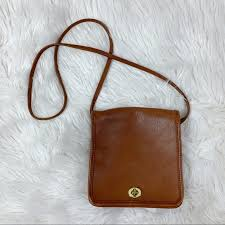 brown leather compact cross bag