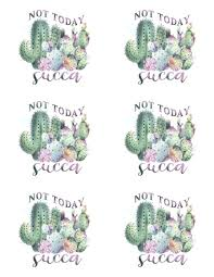 Waterslide Images Not Today Succa Laser Printed Tumbler Decals No Glitterin Dixie Designs