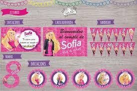 Tarjeta De Cumpleanos Barbie Impreso Sobre Mensaje Dentro De Imagen